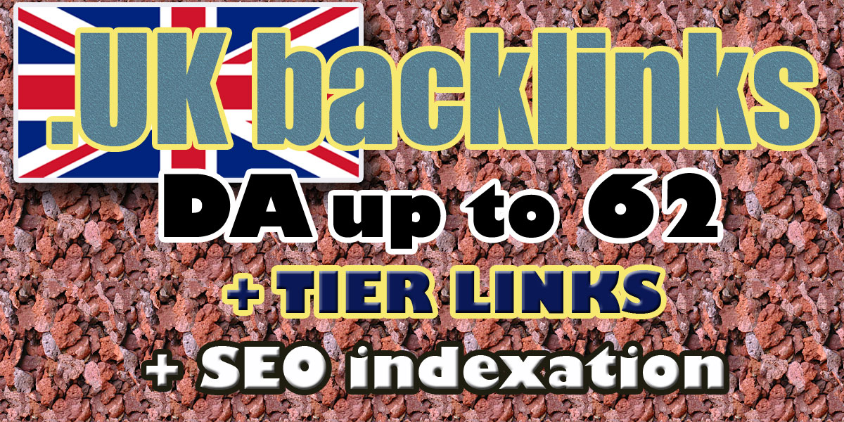 I will do UK backlinks high domain authority UK domains