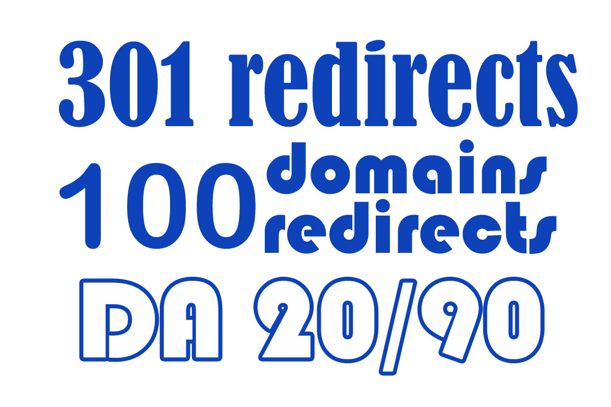 I will provide 301 redirect da backlinks from 100 websites