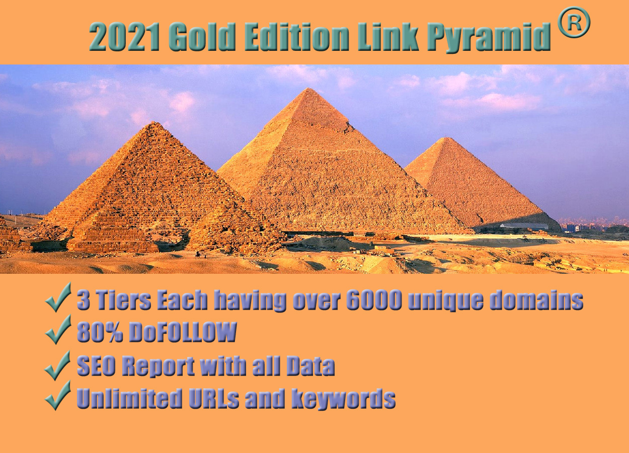 2021 special Gold edition 3 tiers link pyramid