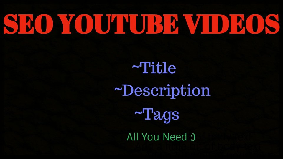 Youtube SEO Title Tags And Description To Optimized your Video