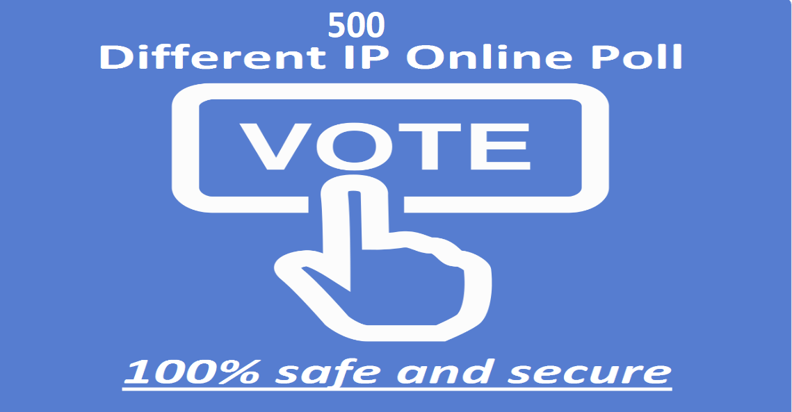 Give 500 single click different ip votes poll contests