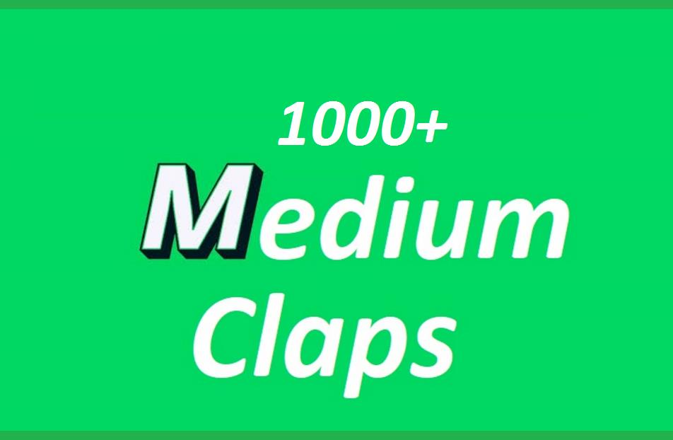 Get you 1000 Promote Medium claps your article