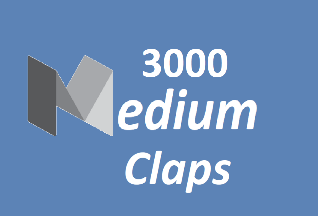 Get you 3000 Promote Medium claps your article