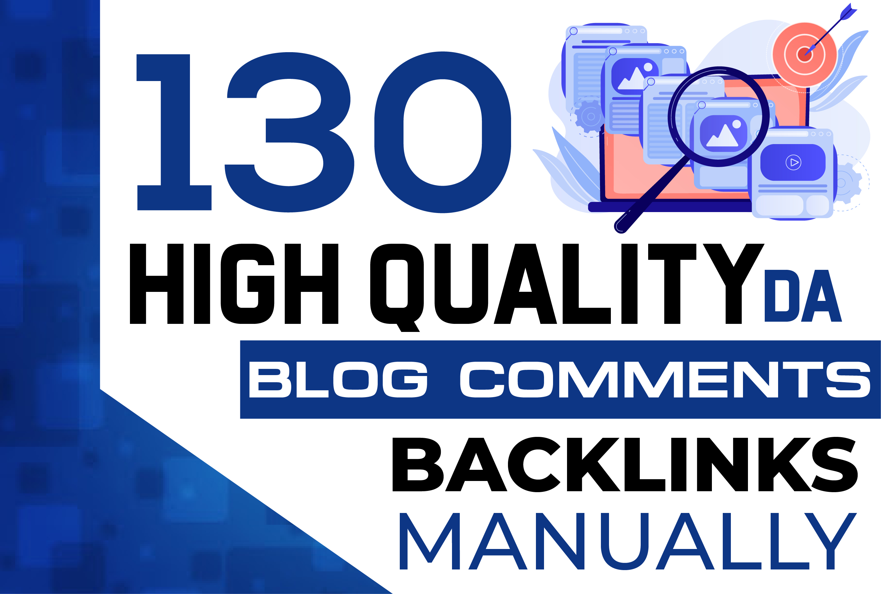 130 dofollow blog comment quality backlinks
