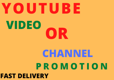 Professional YouTube Video Promotion Fast Delivery