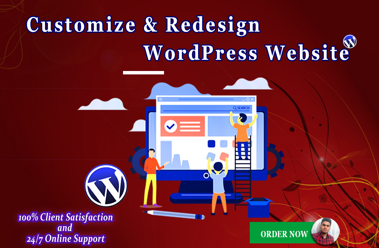customize and redesign your wordpress website with any theme