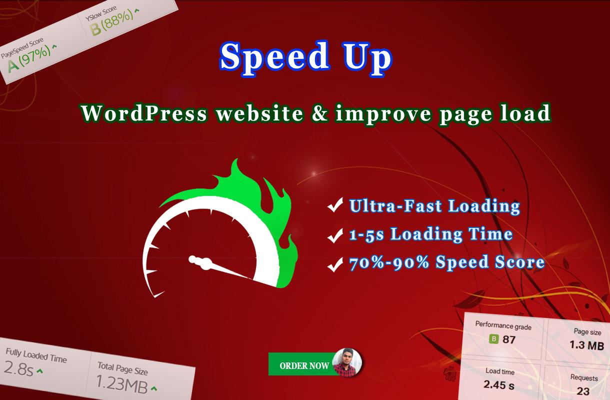 I will do WordPress speed optimization & Improve page load