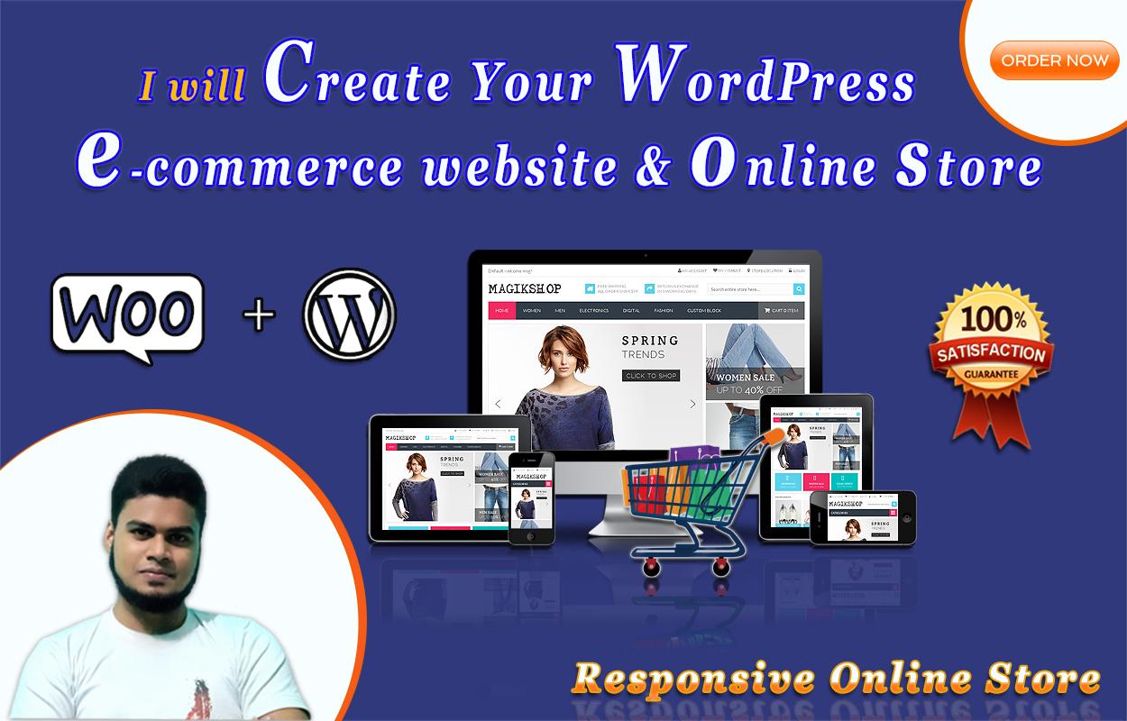 I will Create WordPress ecommerce website by woocommerce