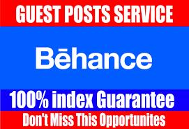 Publish Guest Post on behance. net DA92 PA75