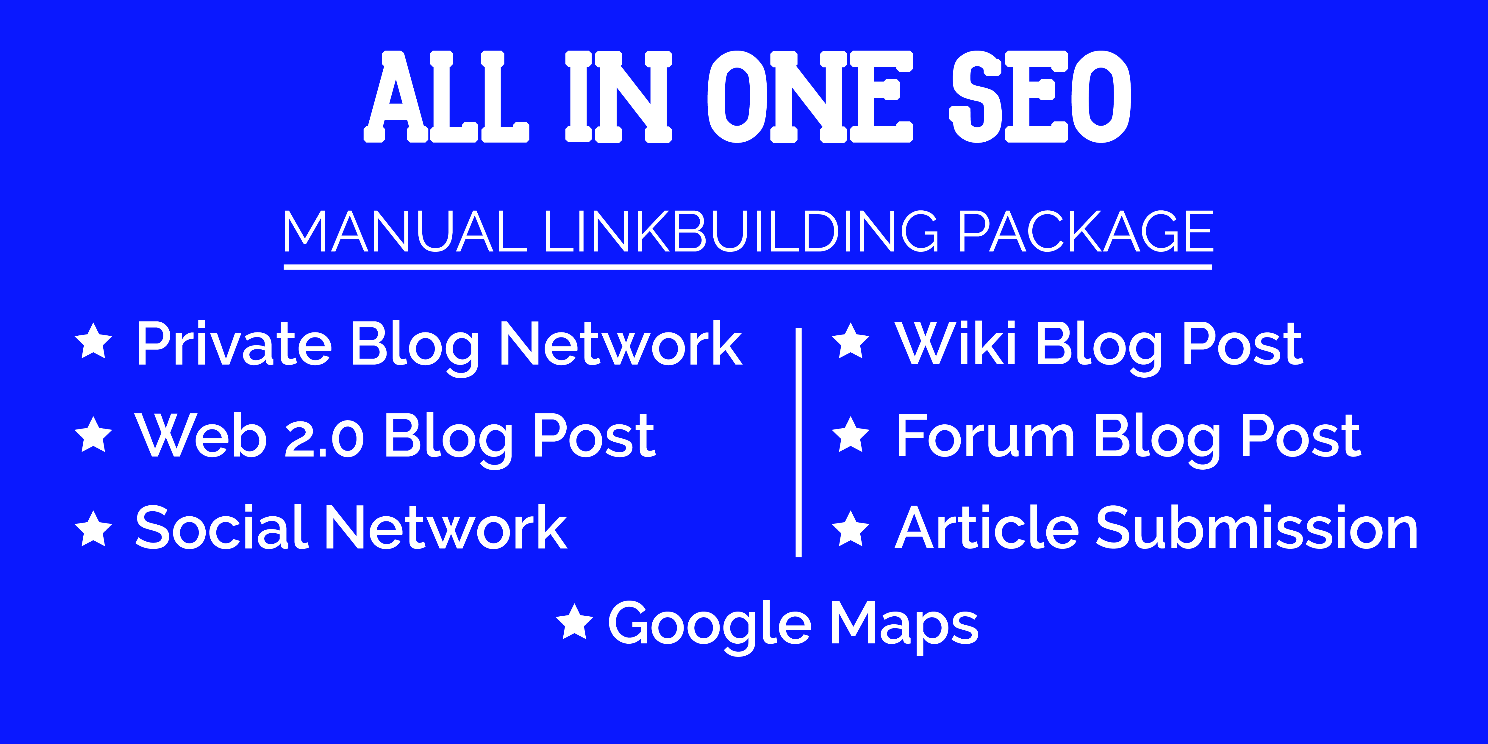 All In One Manual SEO 150 Dofollow Backlinks
