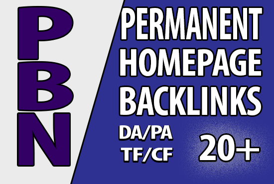 15 Home page Permanent Do-follow PBN backlinks DA PA TF CF 20+