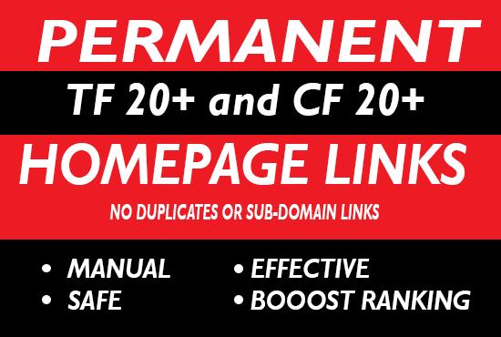 10 High Da Pa Tf Cf Permanent Homepage Pbn Backlinks