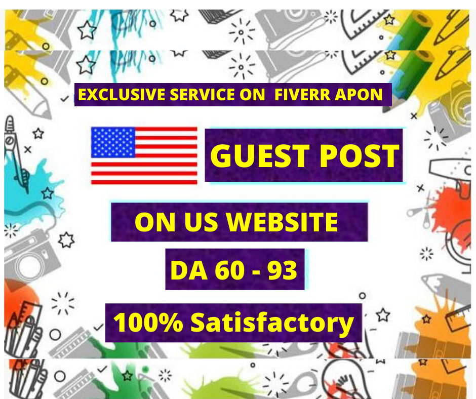 I will write & publish guest post on the US website da 93 with us traffic