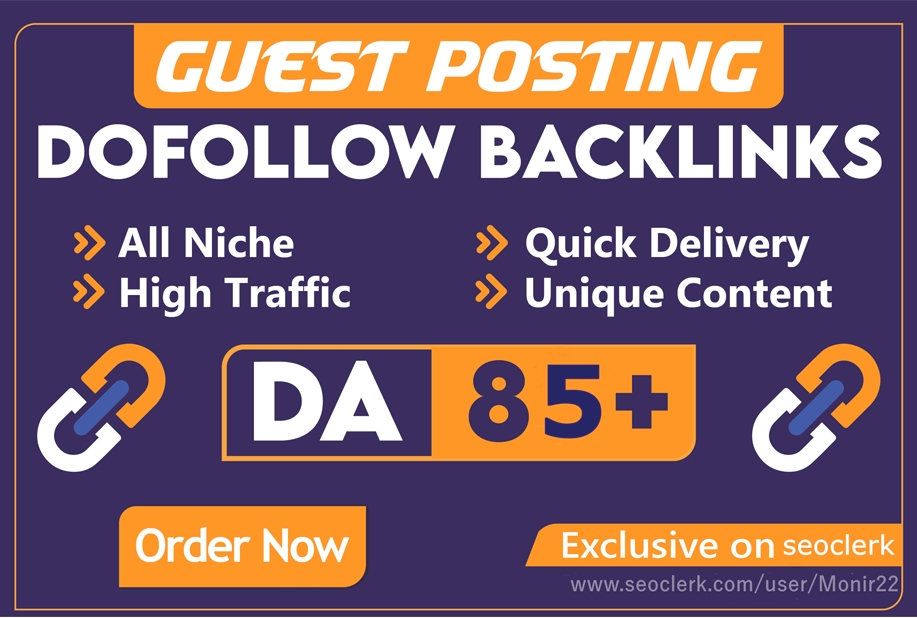 Write & Publish Dofollow 5 High Quality Guest Post On DA 85 Plus Site