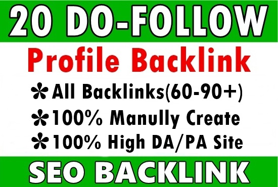 I Will Create 20 Social Media Profiles Seo backlinks for your website