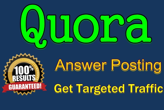 Guaranteed Keyword Related 12 Quora Answer for Targeted Traffic