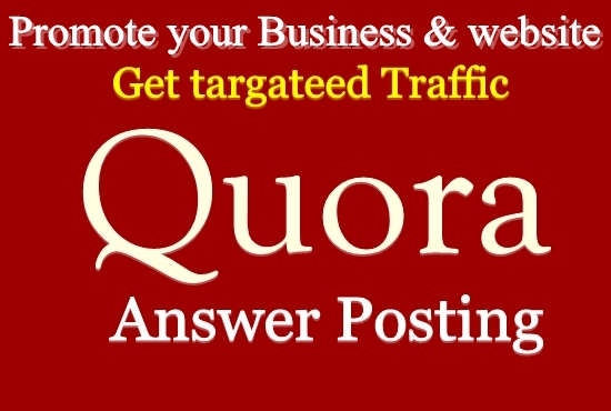 I will Create 12 Niche Relevant Quora Answers for getting Traffic