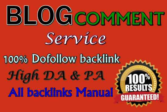 Provied 30 niche Relevant blog Comment HQ DA & PA Sita Backlink
