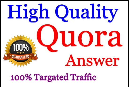 Promote your website 10 HQ Quora Answer & upvotes