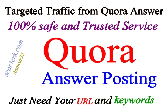 Guaranteed Keyword Related 12 Quora Answer & upvotes
