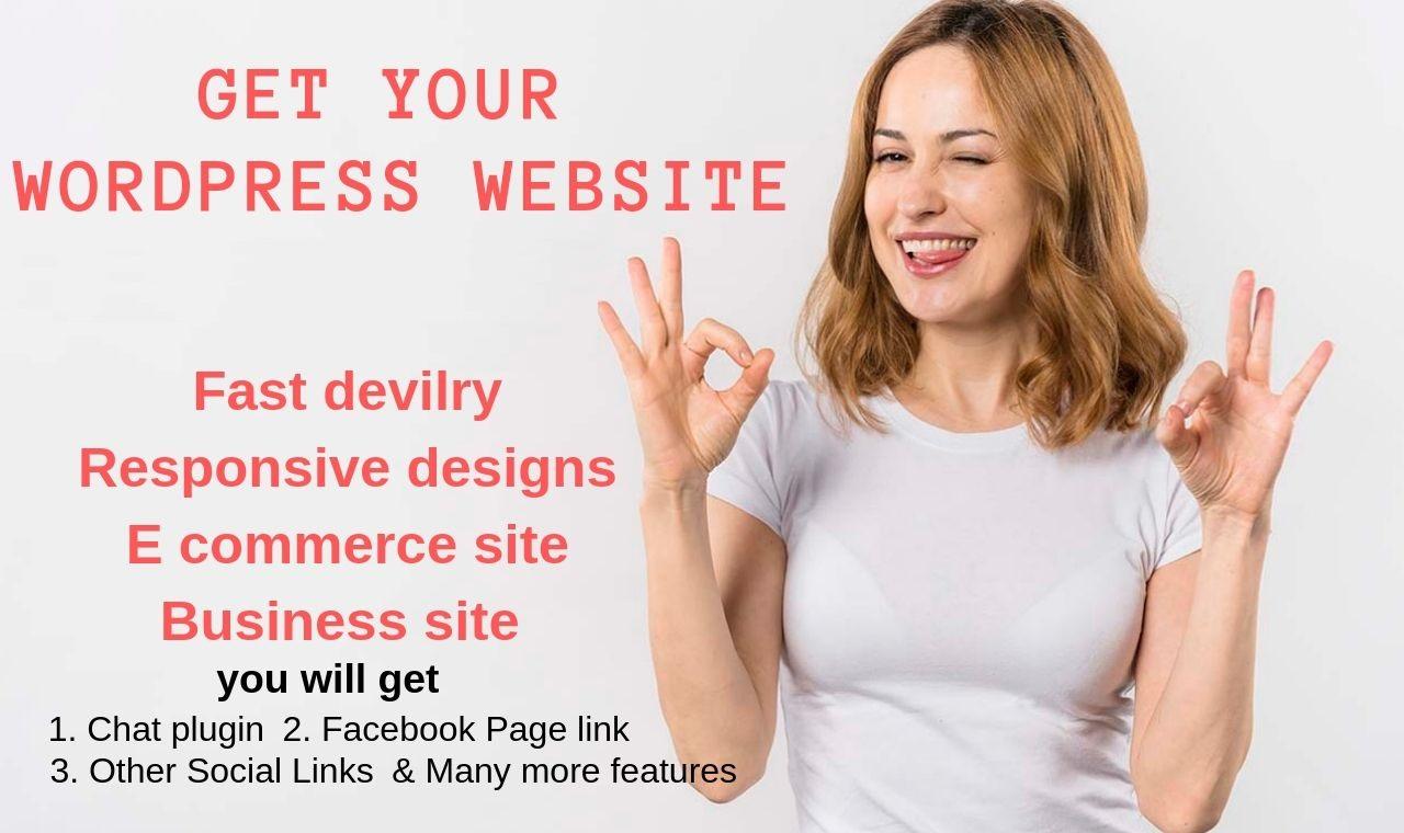 Develop wordpress professional website