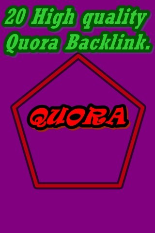 Get Traffic with high quality quora answer.
