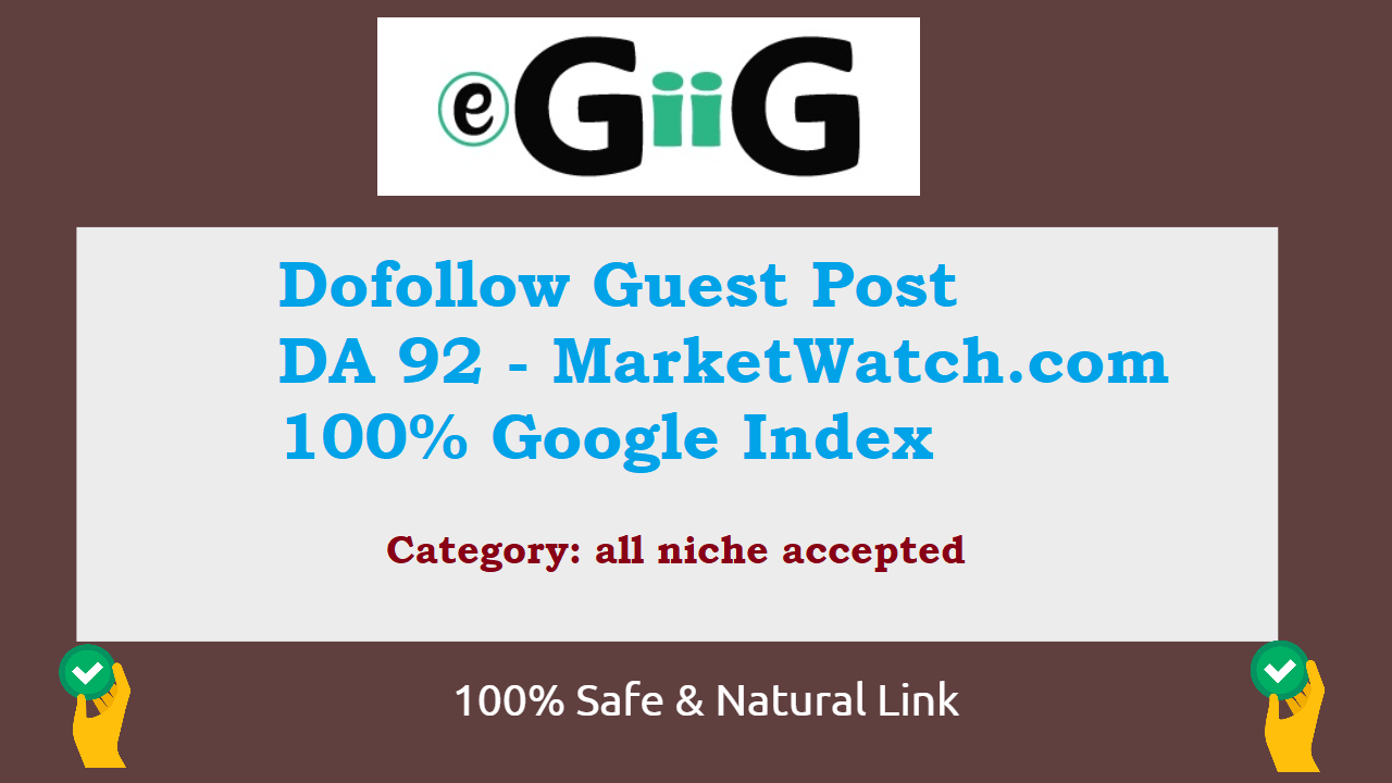 DoFollow Backlinks from Marketwatch DA92 News Site