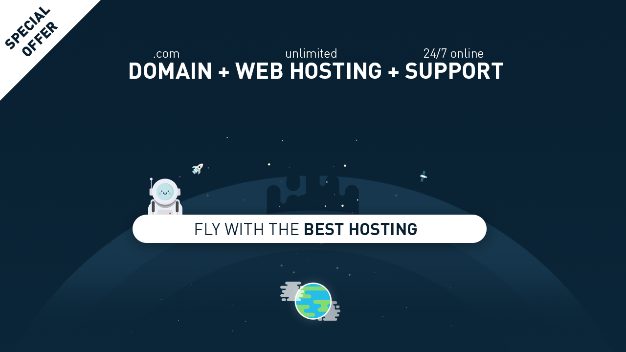 Special Offer Domain + Hosting + 24/7 Support