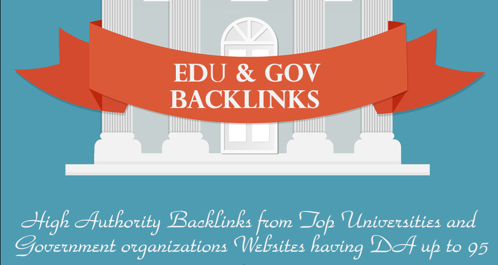 Powerful Edu Backlinks & Gov Backlinks from Quality Sites