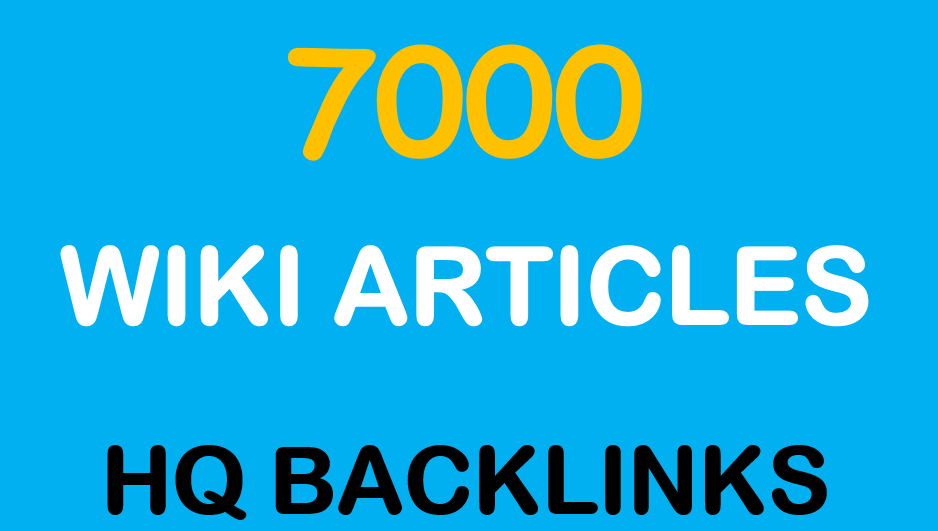 Get 7000 Wiki links from contextual Wiki Articles to get fast ranking