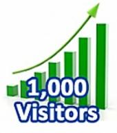 1000 Visitors In 1 month, ebook, step by step