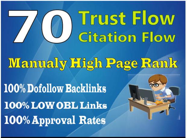 I'll Do 70 high trust flow citation flow dofollow backlinks