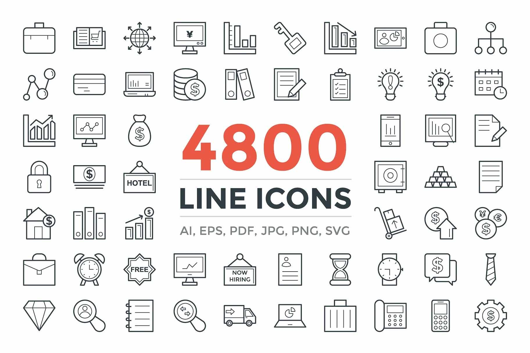 I will do line and flat vector icons design