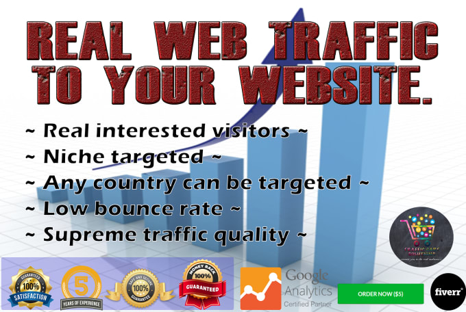 I Will Drive Real And Genuine Traffic To Your Website For 1 Month