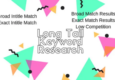 Provide 40 low competitive long tail keywords
