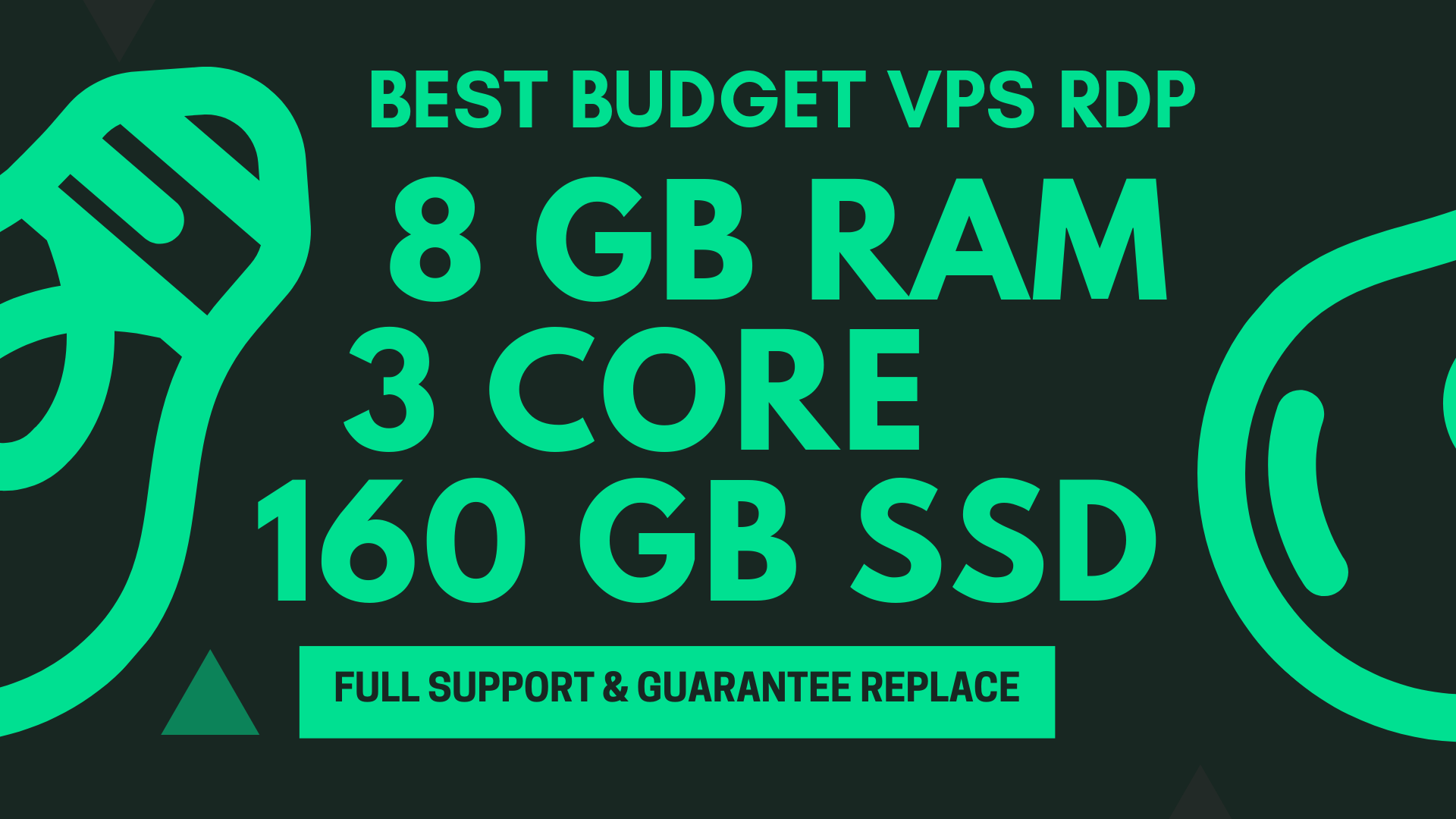 BEST BUDGET WINDOWS RDP VPS 8GB RAM 3CORE 160GB SSD
