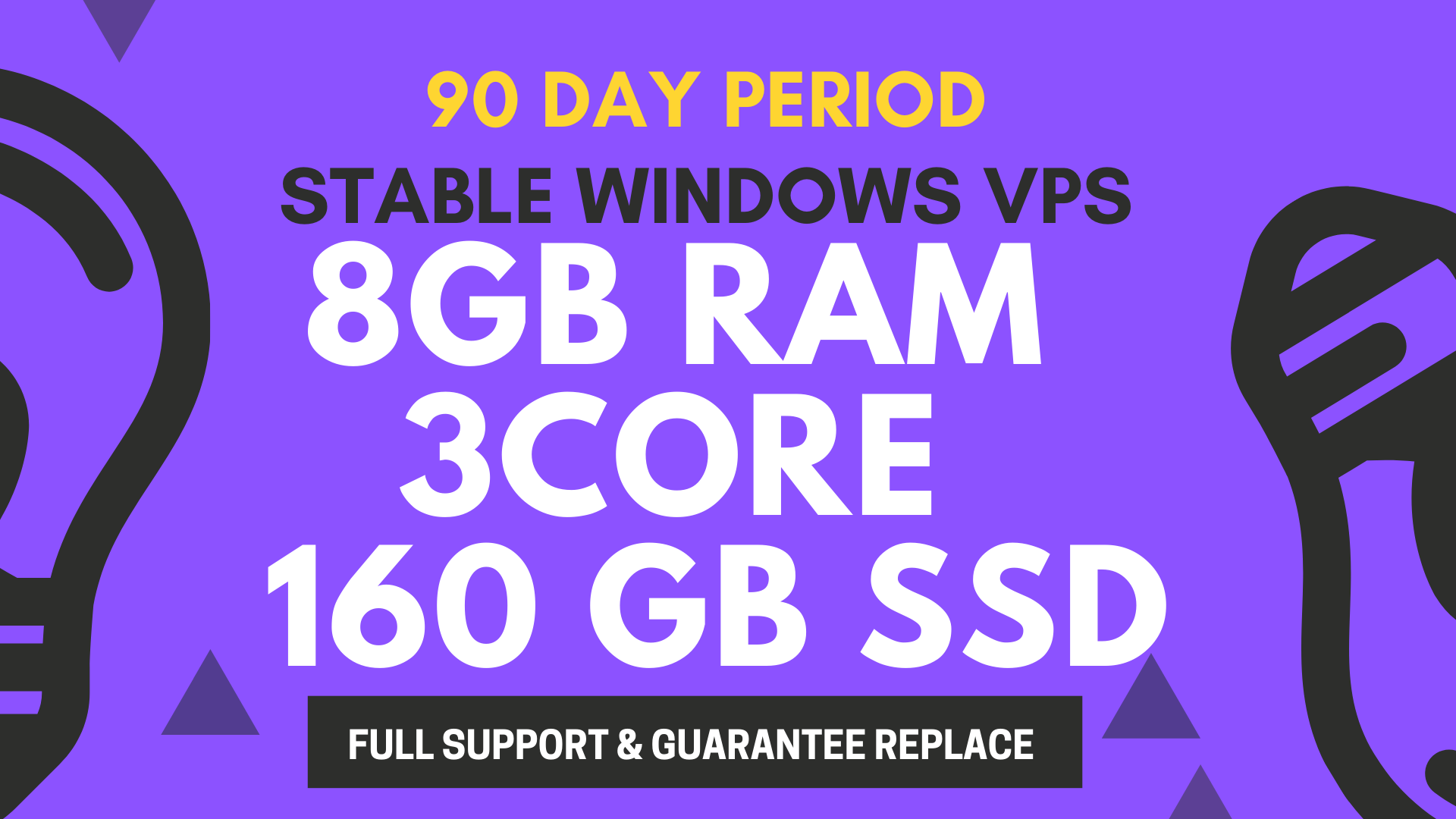 3 MONTH Of Use STABLE WINDOWS VPS 8GB RAM 3CORE 160GB