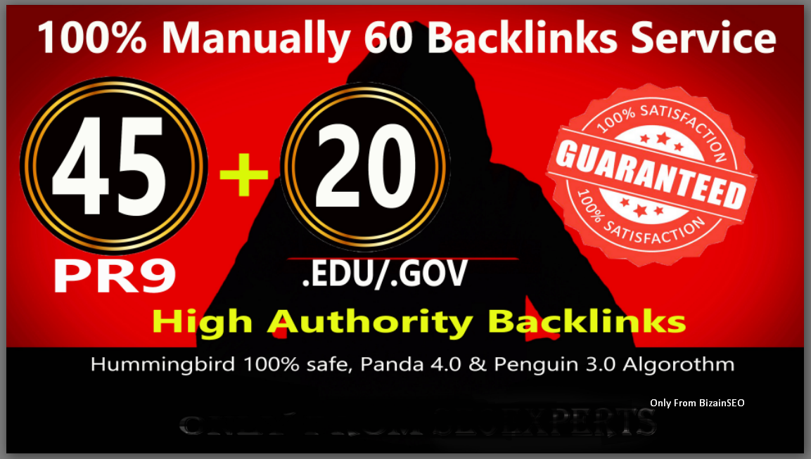 Fire Your Google Ranking with 45 Pr9+ 15 Edu/Gov Safe seo Authority Backlinks