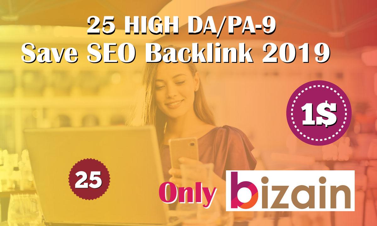 Manually Do 25 Pr9 DA 80+ Safe SEO High Authority Backlinks 2021 Best Results