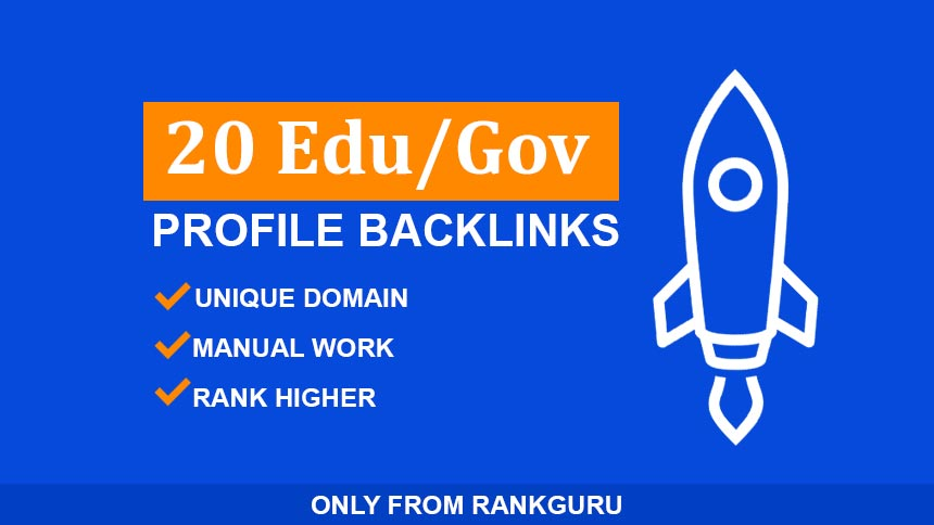 20 EDU/GOV Profile SEO backlinks