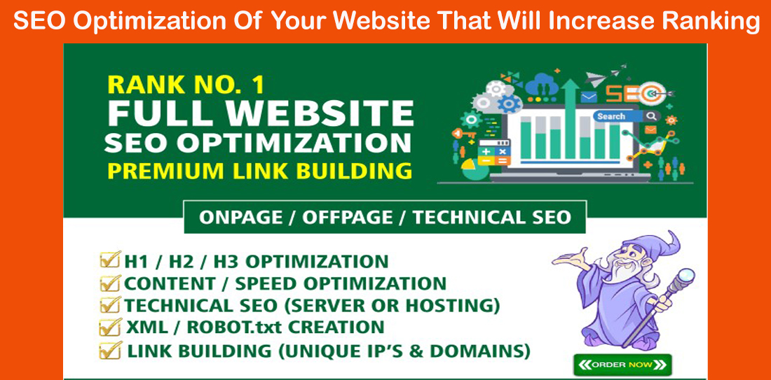 SEO Optimization Of Your Website That Will Increase Ranking