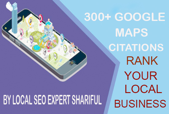 300 Google maps citations for ranking gmb and local seo business