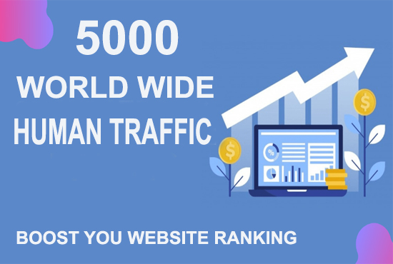 5000 Human traffic to your web or blog site. Get Adsense safe and get Good Alexa rank