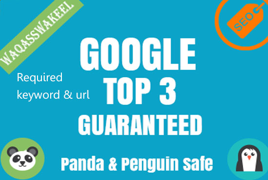 Guaranteed! I will rank your website in google top 3.
