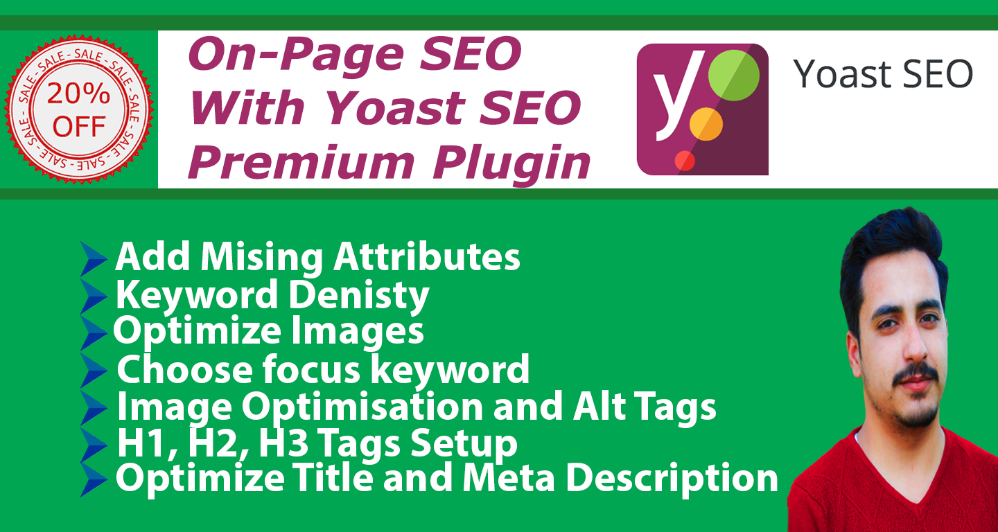 i will do wordpress yoast SEO optimization, image alt tag