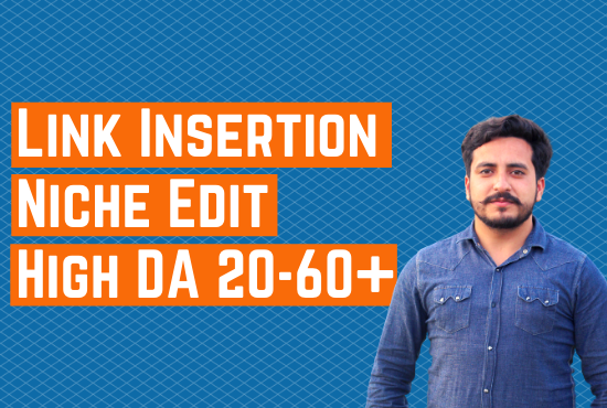 I will do link insertion niche edit guest post SEO backlinks