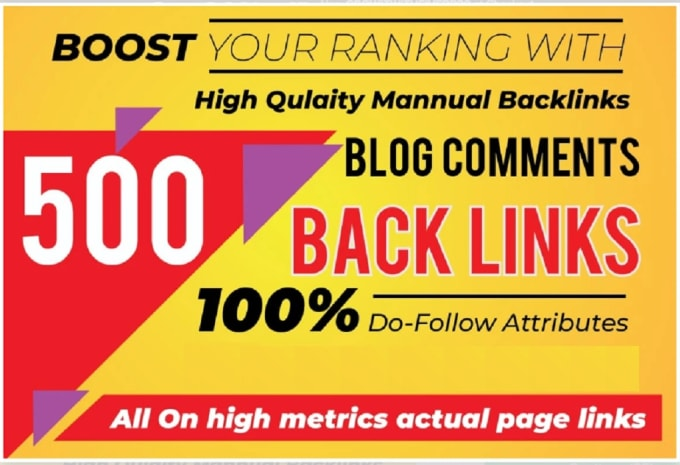 I Will Create 500 Manual Dofollow Blog Comments and High Quality Manual Backlinks