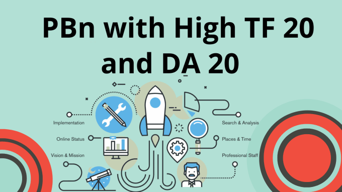 Build 6 Permanent Pbn Links,  High Trust Flow 20 And Da 20 Contextual Backlinks