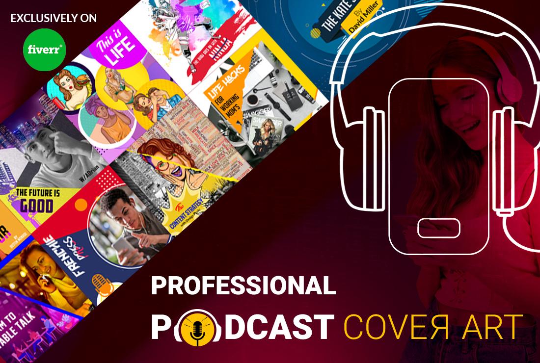I will design a professional, unique, luxury podcast cover art