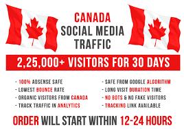 7500+ CANADA Social Media Visitors for 30 Days